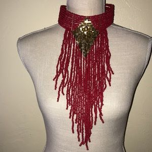 NEW Red and Gold Collar Necklaces